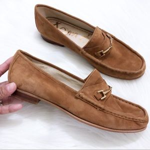 Sam Edelman cognac suede leather Talia flats